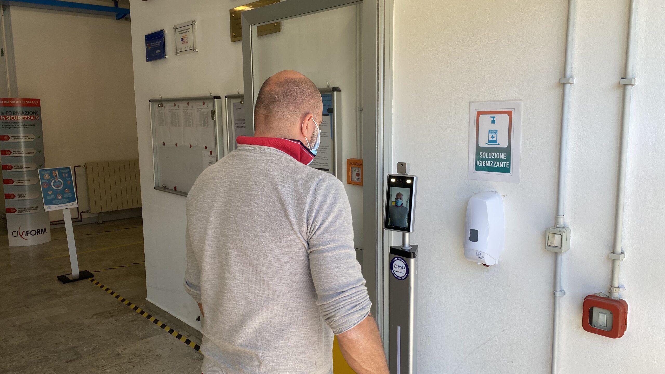 Controllo accessi termoscanner Civiform Trieste